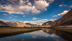 Serenity - Nubra Valley,  Kashmir (Kartik Kumar S) Tags: nubra valley kashmir india landscape tokina 1116 canon600d 600d nature mountains river clouds