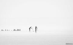 Paddling (Anneke Jager) Tags: annekejager paddling water wasser watersport blackandwhite zwartwit monochrome highkey minimalism minimalist