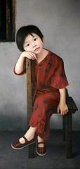 Happy Childhood // by Wu Chengwei (1973, Chinese) (mike catalonian) Tags: color photography portrait fulllength children