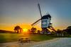 Lommel Windmill. (P.Tob-Ys) Tags: lommel windmill sunset