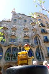 Travels of badger - Casa Batll (enigmabadger) Tags: barcelona spain lego catalonia gaud catalunya custom antoni minifigure brickarms