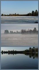 Three days on Bass Lake (yooperann) Tags: lake ice collage out frozen melting michigan off clear upper melted peninsula thawing yoopers
