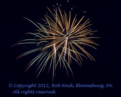 Fourth of July Fireworks Display at Hammond Reservoir, PA, July 4, 2012 (Rob Nock) Tags: night unitedstates artistic fireworks pa fourthofjuly bloomsburg