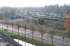Lente langs het spoor (Marco Moerland) Tags: railroad tree train season tren spring rotterdam ns eisenbahn railway boom alexander lente bahn arbre printemps baum trein frhling spoorwegen spoorweg sprinter nederlandse seizoen chemindefer alexanderpolder jaargetijde jaargetij