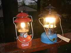 Coleman Lanterns as Ambiance (Mike Leavenworth) Tags: vintage sears lantern coleman 200a