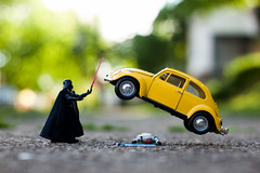May the 4th be with you (Kilkennycat) Tags: yellow vw canon bug volkswagen starwars funny force darthvader levitating 500d maythe4th kilkennycat t1i ryanconners