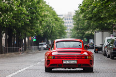 Porsche 959 [EXPLORE] (Valkarth) Tags: red paris classic de rouge porsche rosso supercar rallye 959 rdp georgesv 2013 2k13