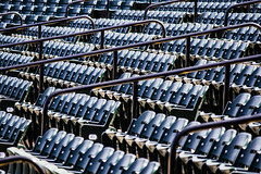 Blue Crab Stadium (Bravo213) Tags: water chairs baseball hose seats trucks cy challengeyouwinner pregamewinner bluecrabstadium