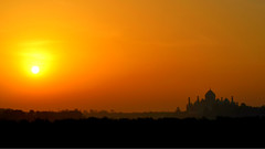 Taj Mahal at dusk (Mayur Malusare) Tags: travel sunset india love silhouette sunrise landscape outdoors tajmahal picoftheday instagram instagramapp