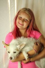 IMG_7026 (uyht) Tags: pink dog girl smile daughter her doggy atitude