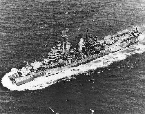 USS Pittsburgh (CA-72) loss of bow