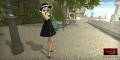 DANIELLE AD Ceri (Dani Plassitz ~Danielle~) Tags: hat bag pumps embroidery mini velvet short heels clutch elegant ceri cocktaildress christabel stylesbydanielle