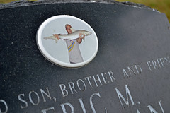 And Fisherman (MTSOfan) Tags: son brother friend fisherman photo fish gravemarker headstone cemetery cannonhill