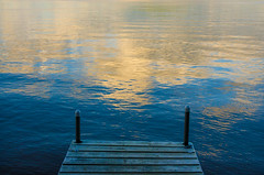 Off the Dock (JeffStewartPhotos) Tags: cottage dock water lake marylake huntsville reflection clouds evening endoftheday ontario canada