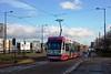 Midland Metro, Wolverhampton, January 2014 (David Rostance) Tags: wolverhampton bilstonroad a41 midlandmetro tram 09