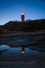 Beavertail Lighthouse at Blue Hour (Gabriel Mirasol) Tags: nikon d7100 tokina 1116mm 1116 dx wide water night blue reflection