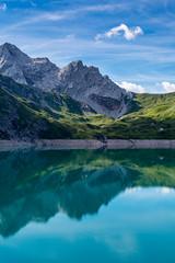 Morgens am Lnersee (thunderbird-72) Tags: brandnertal vandans mountains sterreich austria see reflection vorarlberg berge lake reflektion spiegelung alpen lnersee at