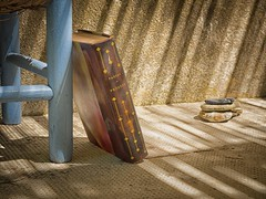 Still life of chair and book, detail (ParadoX_Design) Tags: chair book still life blue pascal pensees old vintage france sun shadow olympus em10