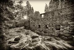 Ruins of an old mill, BW (p hakala p) Tags: ruinsofanoldmill latokartanonkoski latokartano salo salonseutu perni