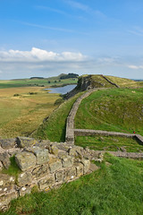 The Wall (Le monde d'aujourd'hui) Tags: hadrianswall northumberland view england hillfort roman empire romanempire trump usa landscape