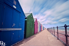 Mundesley 11 (davemoly17) Tags: davidmolyneuxphotography sea seaside beach beachhuts coast sand groynes waves water mundesley norfolk lifeboat sunny canon eos 1100d sigma wideangle