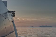 Lamp at Sunset (Hattifnattar) Tags: lamp sunset thailand kohphangan ferry pentax fa43mm limited