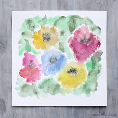 The Flower Garden Abstract Watercolor Painting (They Come Along) Tags: art watercolor watercolorart watercolorpaint watercolorpainting flowers flower floral flowerart floralart abstract abstractart myart