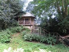 3232 A summer house(?) in Plas Newydd garden, Llangollen (Andy panomaniacanonymous) Tags: 20160806 cymru garden ggg hhh llangollen plasnewydd sss summerhouse trees ttt wales