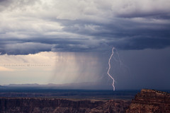 The Little Colorado (Mike Olbinski Photography) Tags: 20160823 canon135mm20l canon5dmarkiii arizona grandcanyon lightning lightningtrigger littlecolorado monsoon mountains plateau rain
