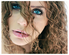 Ghiaccio (Sara (Sarah) Salvitti) Tags: salvittiphotographer photo portrait curlyhair lips hair eyes blueeyes classic colours beautiful beauty summer hot cold