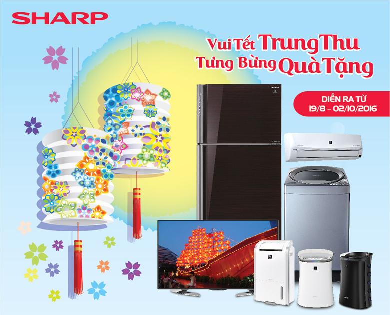Vui tết Trung Thu, tưng bừng quà tặng cùng Sharp tại Mediamart