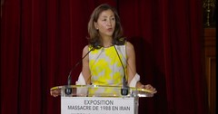 Ingrid Betancourt Former Presidential candidate in Colombia #Justice1st conference in Paris #1988Massacre in #Iran exhibition. (iranarabspring) Tags: justice1st 1988massacre iran paris