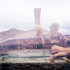 Bipolar Islands (Velvet Bandit) Tags: 35mm destroyed film damaged damagedfilm double exposure exposed painting filmsoak filmsoup doubleexposed doubleexposure multipleexposures
