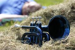 Little Boy Blue 09052016 (Orange Barn) Tags: nurseryrhyme littleboyblue horn haystack pockettrumpet sleeping 116picturesin2016