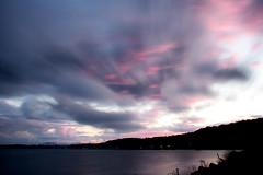 Pink and Grey / Rose et gris (tofason) Tags: clouds nuages grey pink longexposure expositionlongue fleuvestlaurent stlawrenceriver villedequebec quebeccity