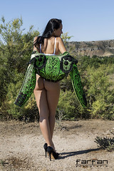 Florina (jlhuys farfan) Tags: florina farfan morena modelo model mujer woman chica girl torero trajedeluces trajedetorero tacones negro verde