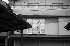 SECOND LEVEL (ajpscs) Tags: ajpscs japan nippon  japanese  tokyo  nikon d750 streetphotography street summer shitamachi monochromatic grayscale monokuro blackwhite blkwht bw blancoynegro nightshot tokyonight nightphotography glasscleaning secondlevel