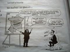 LE TRAIT D'ITURRIA (marsupilami92) Tags: frankreich france sudouest poitoucharentes 17 charentemaritime tourisme larochelle iturria humour dessin gaulois sarkosy presse journal