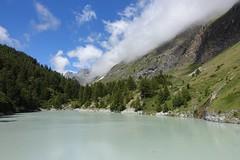 Lac du barrage de Zmutt (Iris_14) Tags: zmutt zermatt valais wallis barrage lac suisse switzerland schweiz alpes alpen swissalps nuage cloud