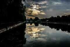 Fiume e Mura Citt Proibita (davidebed) Tags: sony sonya7 alpha 7 pechino cina mura fiume cloud sun