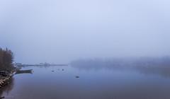 Misty fishermen's harbour in Lapaluoto (LuonnonKuvaaja) Tags: lapaluoto harbour raahe finland fishermen boats dock misty mist fog october evening sea calm bothnian bay panorama