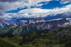 View to Croda da Lago (Fred van Bergeijk) Tags: mountains alps dolomites clouds gras scenery cinque torri italy