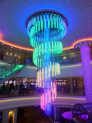 Colorful Chandelier in Atrium (terraxplorer2000) Tags: norwegianbreakaway cruise cruiseship