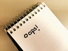 242/365 Oops! (AluminumDryad) Tags: notebook spiralboundnotebook notepad writing handwriting oops sharpie