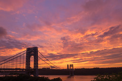 Sunset in the Heights (jessicaweinbergmcclosky) Tags: nyc washingtonheights georgewashingtonbridge gwb sunset sky