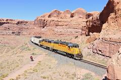 Bootlegger Canyon, Utah (UW1983) Tags: trains railroads unionpacific up potashlocal canecreeksub gp60 utah