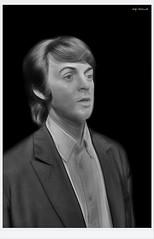 Paul (Billy McDonald) Tags: hdr blackandwhite monochrome paulmccartney thebeatles waxwork madametussauds blackpool