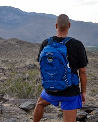 Testing the Osprey Escapist 32 - #2 (Blue Rave) Tags: 2016 blue thecolorblue color colour blueshorts hike hiking trail nature thegoattrails palmsprings california ca bloke dude guy male mate people osprey ospreyescapist32 backpack rucksack self myself ego me meninshorts guysinshorts shorts back backside