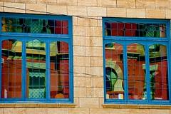 Window Abstract, X2 (hectic skeptic) Tags: butte montana markamorgan sparkys sparkysgarage helena capital overlandrye milehighmiledeep