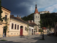 Rasnov town centre (Richard Leese) Tags: romania travel europe east travelling transylvania romanian outstandingforeignphotographersvisitingromania